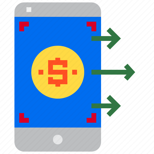 business, finance, mobile, money icon