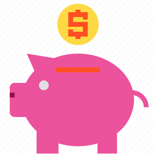 business, finance, money, pig icon