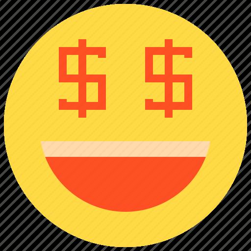 business, finance, money, smile icon
