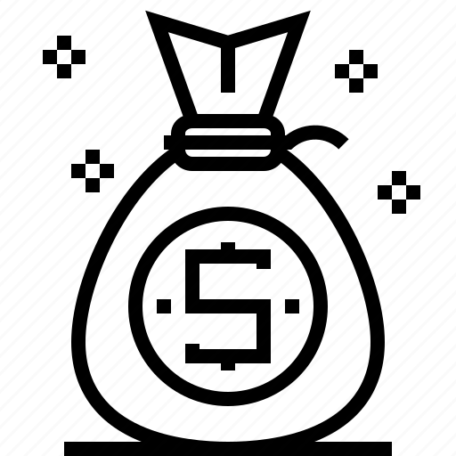 Bag, finance, business, money icon
