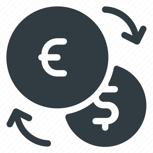 currency, dollar, euro, exchange, finance icon