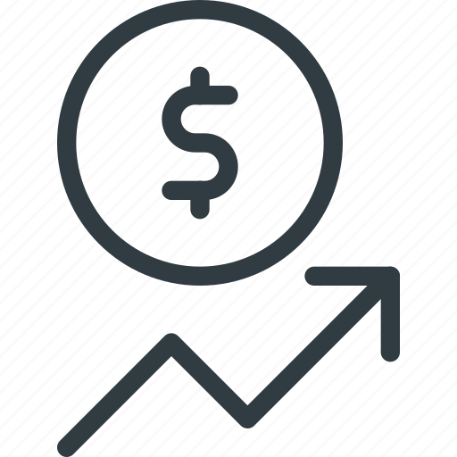 Coins, currency, dollar, finance, increase, money, stock icon - Download on Iconfinder