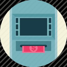 atm, machine, teller icon
