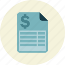 bill, expense, income, receipt icon