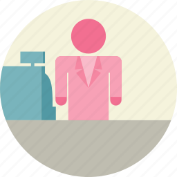cashier, payment icon