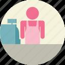 cashier, market, supermarket icon