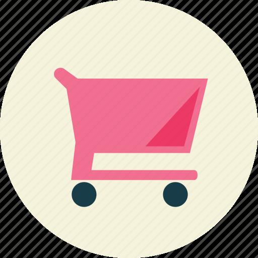empty, shopping, trolley icon