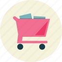 full, shopping, trolley icon