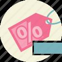 discount, price, remove, tag icon