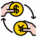 coin, exchange, money icon