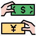 exchange, money icon