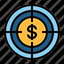 dollar, target icon