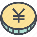 budget, business, coin, currency, finance, money, yen icon