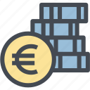 budget, business, coins, currency, euro, finance, money icon