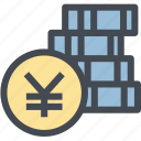 budget, business, coins, currency, finance, money, yen icon