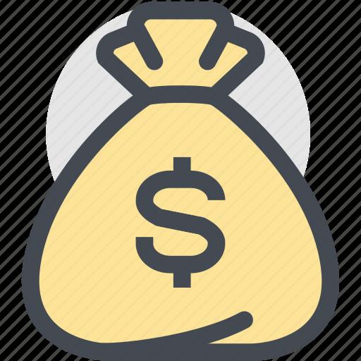 bag, business, currency, dollar, dollar bag, finance, money icon