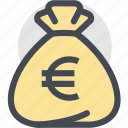 bag, business, currency, dollar bag, euro, finance, money