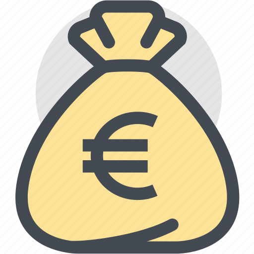bag, business, currency, dollar bag, euro, finance, money icon