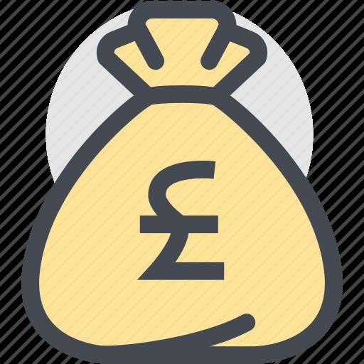 Bag, business, currency, dollar bag, finance, money, pound icon - Download on Iconfinder
