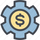 business, coin, finance, gear, mechanism, money, money settings icon