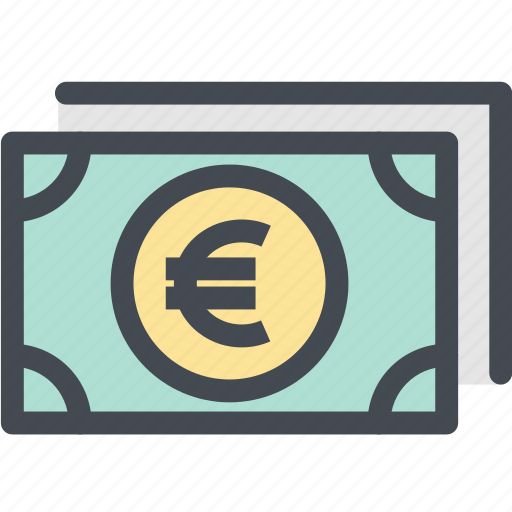 business, cash, currency, euro, finance, money, pay icon