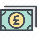 business, cash, coin, currency, finance, money, pound icon