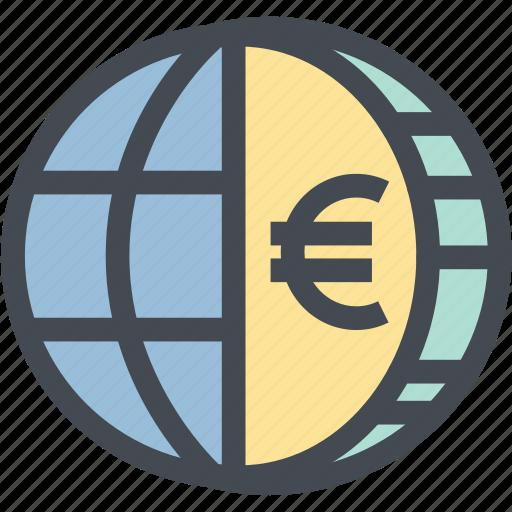 business, coin, euro, finance, globe money, money, world icon