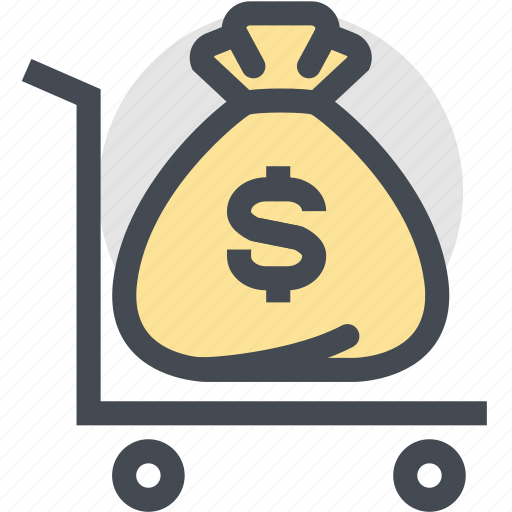 cash, coin, currency, dollars, finance, money, money bag icon