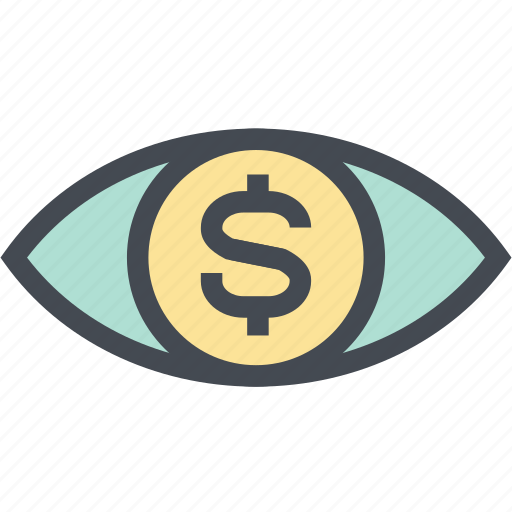 Coin, dollar, finance, money, money eye, see, view icon - Download on Iconfinder