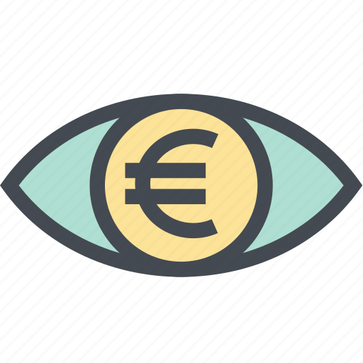 Coin, euro, finance, money, money eye, see, view icon - Download on Iconfinder