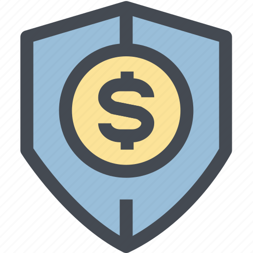 coin, finance, monetary, money, money protection, protection, shield icon