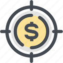 coin, finance, financial, financial target, focus, money, target icon