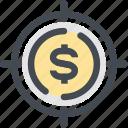 coin, finance, financial, financial target, focus, money, target