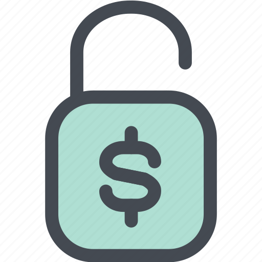 business, cash, coin, finance, lock, money, money unlock icon