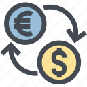 business, charge, dollar, exchange, fees euro, finance, money icon