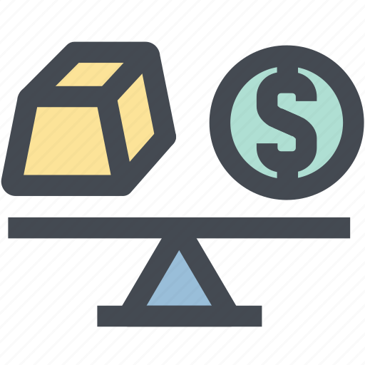 balance, business, finance, gold, money, scale, weight icon