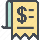 bill, business, finance, invoice, list, money, shop icon