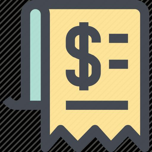 bill, business, finance, invoice, list, money, shop icon