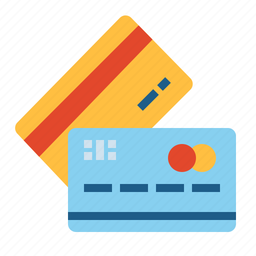 card, credit, two icon
