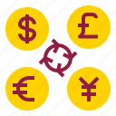 coin, currency, exchange, money icon