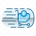 faucet, market, shopping, speed, trends icon