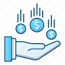 charity, donation, flow, money icon