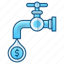 business, faucet, flow, money icon