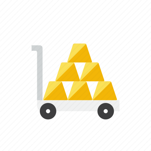 cart, gold icon