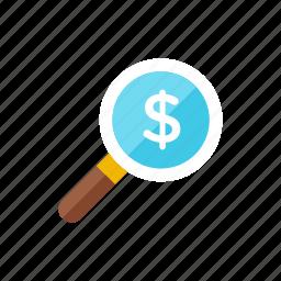 money, search icon