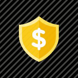 money, shield icon