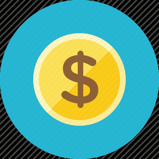 Coin, dollar icon - Download on Iconfinder on Iconfinder