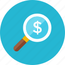 money, search icon