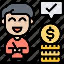 expense, money, investor, budget, businessman