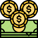 cash, bank, wealthy, budget, monetary icon
